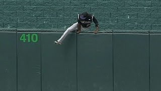 Download Fowler loses glove, hops fence to retrieve it Video
