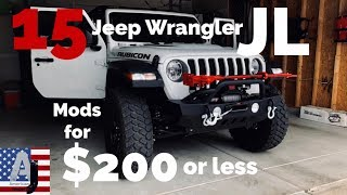 Download 15 Jeep Wrangler JL Mods for $200 or less Video