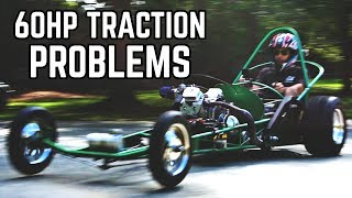 Download 60HP Dragster Kart Tuning & Traction Problems! Video