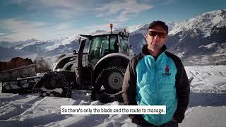 Download Visit the La Plange ski area - with Valtra T214 Video