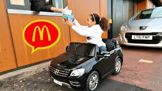 Download McDonalds Drive Thru Prank!! Power Wheels Ride On Car Pretend Play Video