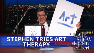Download Stephen Colbert Goes To Art Therapy Video