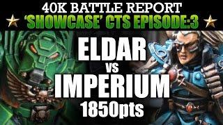Download Imperium vs Eldar Showcase CTS:3 40K Bat Rep BATTLE FOCUS! 7th Ed 1850pts | HD Video