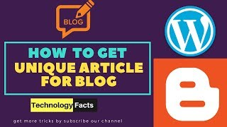Download How To Get Free Unique Articles For Blog | Get Free Content For website Video