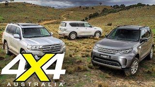 Download 2018 Toyota LC200 vs Land Rover Discovery vs Nissan Y62 Patrol   4X4 Australia Video