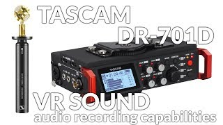 Download Tascam DR-701D VR Ambient Audio Recording Capabilities Video