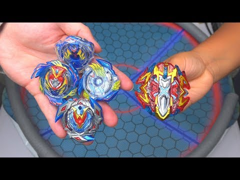 BUSTER XCALIBUR vs ALL VALKYRIE VALTRYEK | Beyblade Burst Super Z ベイブレードバースト 超ゼツ