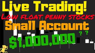 Download Live day trading penny stocks! Small account live stream of low float stocks Video
