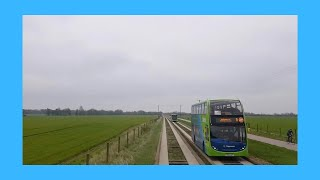 Download Cambridgeshire Busway B Full Route Visual- Peterborough to Cambridge Video