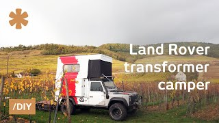 Download Couple's own Paris-Dakar using Land Rover transformer-camper Video