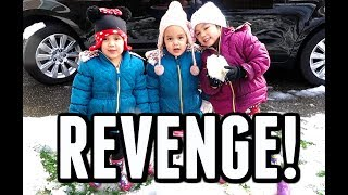 Download OUR FIRST SNOW BALL FIGHT! - ItsJudysLife Vlogs Video