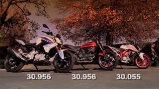 Download KTM 390 Duke vs. BMW G310R vs. Ducati Scrambler Sixty2 Part 1 Video