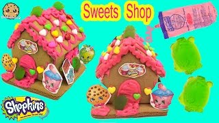 Download Shopkins GINGERBREAD HOUSE KIT Frosting Gummy Candy Food Craft Playset - Cookieswirlc Video Video