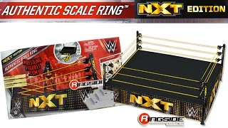 Download WWE FIGURE INSIDER: NXT Authentic Scale Wrestling Ring ″NXT Edition″ Playset! Video