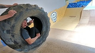Download GIANT TIRE VS MEGA RAMP! Video