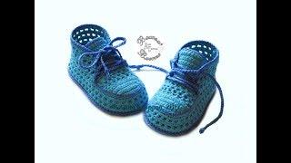 Download Кеды пинетки летние крючком //Sneakers booties crochet summer// Video