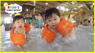 Download Babies and Kids Family Fun Pool Spash Pad and Water Slides! Family Fun Vacation Video