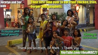 Download Poverty in the Philippines. Their first time eating fried chicken, burger, fries and spaghetti Video