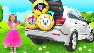 Download Sasha plays with Surprise Balls and Eggs with Toys Video