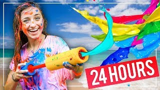 Download GiANT PAiNT SLiDE!   We Tried 10 FUN Summer Activities in 24 HOURS! Video