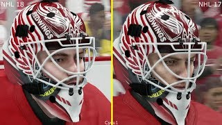 Download NHL 18 vs NHL 17 Graphics Comparison - Red Wings vs Penguins Video