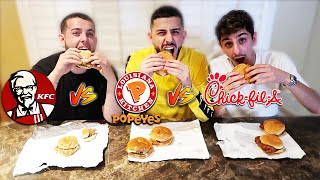 Download POPEYES vs KFC vs CHICK-FIL-A CHICKEN SANDWICH! *Which is better?* Video