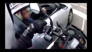 Download Undercover Motorcycle Cop Pulling Over Phone Users Video