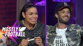 Download Jordin Sparks & Comedian Josh Wolf Stop By The Best Anti-Pregame Pregame Show | Mostly Football Video