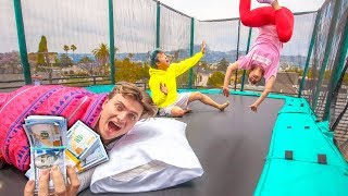 Download LAST TO LEAVE TRAMPOLINE WINS $10,000 Video
