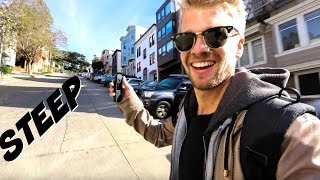 Download STRONGEST Electric Skateboard - going up Hill in San Francisco Video