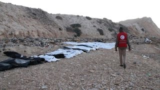 Download Bodies of 74 migrants wash up on Libya beach: Red Crescent Video