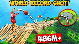 Download *MAX HEIGHT* BASKETBALL SHOT RECORD! (486M) - Fortnite Funny Fails and WTF Moments! #257 Video