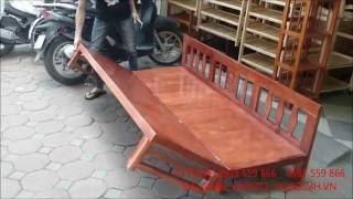 Download Giường Gấp Gỗ Tự Nhiên - Chair combination with bed versatile - Dogo24h.vn Video