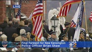 Download Fallen New Kensington Police Officer's Casket Arrives At Church Video