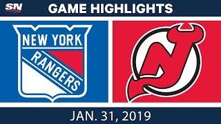 Download NHL Highlights | Rangers vs. Devils - Jan. 31, 2019 Video