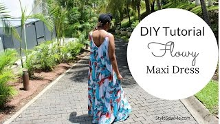 Download DIY Flowy Maxi Dress Tutorial Video
