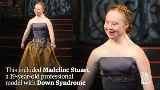 Download Disabled models walk the runway at New York Fashion Week Video