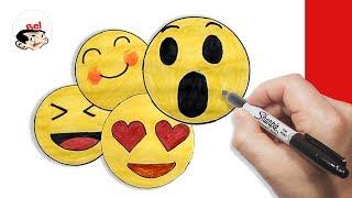 Download رسم ايموشن الفيسبوك | رسم فيسات بالخطوات | Draw facebook emojis Video