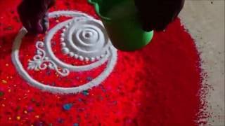 Download Diwali special rangoli with best colour combination by satish thavi Video