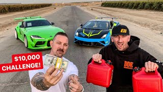Download DRIVING TILL YOU RUN OUT OF GAS CHALLENGE! 2020 SUPRA VS LAMBO Video