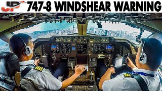 Download COCKPIT BOEING 747-8 Windshear Warning at Chicago O'Hare Video