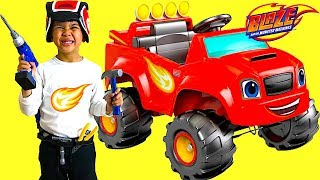 Download Unboxing Blaze and the Monster Machine Battery-Powered Ride On Monster Truck 6V Test Drive TBTFUNTV Video