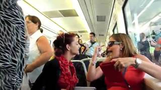Download Psycho Chick fights with pregnant passenger on Perth commuter train. Video