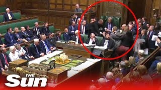 Download Scuffles break out in the Commons as Parliament is prorogued Video