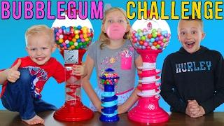 Download Bubble Gum Challenge    Giant & Tiny Dubble Bubble Gumball Machines Video