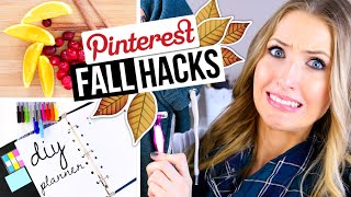Download PINTEREST HACKS... TESTED! #5 || Fall DIY Edition! Video
