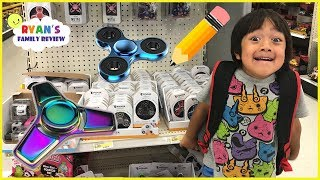 Download Back to School Shopping and Fidget Spinner Toy Hunt with Ryan's Family Review Video