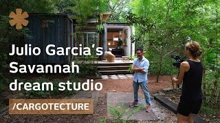 Download Artist builds his Savannah studio with shipping containers Video