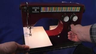 Download Vintage Husqvarna Viking Sewing Machine Red Model 6460 / 64 60 FOR Sale Video