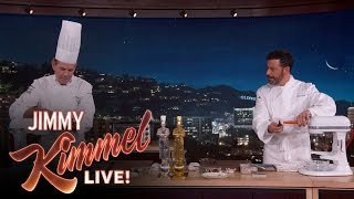 Download Chef Thomas Keller & Jimmy Kimmel Make Award Winning Dish Video